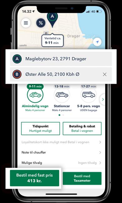 Taxa Amager i TAXA 4x35 appen