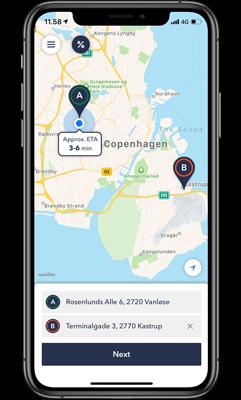 Taxi app benefits