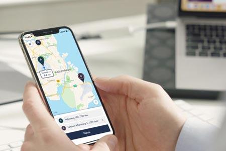 TAXA firmaaftale med fordele hurtig bestilling i taxa app